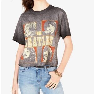 Beatles Cropped Graphic Tee